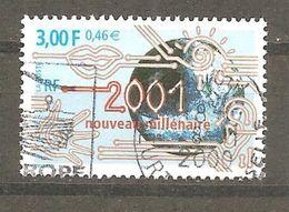 FRANCE - 2000 . Y&T N° 3357 Oblitéré Cachet Rond. Nouveau Millénaire - France