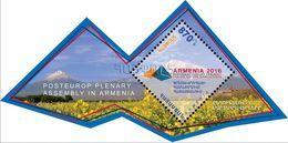 Armenia MNH** 2016 Mi 963 (Block 73) S/S PostEurop Plenary Assembly In Yerevan Mount ArArAt - Armenia