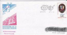 L4D325 Maury N° 2575 Liberté 2,20f OMEC 94 Valde Marne Arcueil 27 03 1989 - Postmark Collection (Covers)