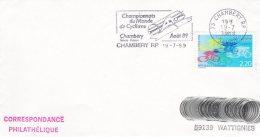 L4D362 France Championnat Du Monde De Cyclisme Août 1989 CHAMBERY 19 07 1989 /env.  Oblit. Concordante - Cycling