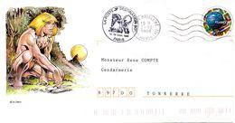 PAP - Cachet Destination BD  Paris -18-19-09-98 -enveloppe Illustrée - Postal Stamped Stationery