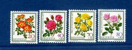 - Etat : **  Suisse Helvetia  Fleurs  4 Timbres  YT 1042,1045   P 1518 - Plants