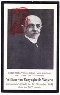 DP Adel Noblesse Foto William Ch. Van Renynghe De Voxvrie ° Schaarbeek 1873 † Gent 1938 X Aline L Dhont ° Poperinge 1874 - Devotion Images