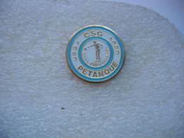 Pin's Du 10eme Anniversaire Du Club CGS Pétanque: 1983-1993 - Coca-Cola