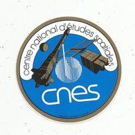Autocollant , AVIATION & ESPACE , Centre National D'études Spatiales , CNES - Aufkleber