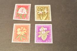 K13504- Set MNH Netherlands New-Guinea -1959- SC. B19-22- Flowers - Other