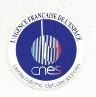 Autocollant , AVIATION & ESPACE , Centre National D'études Spatiales , CNES, L'agence Française De L'espace - Aufkleber