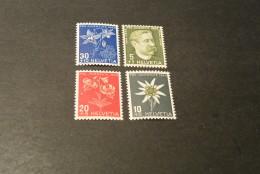 K13533- Set MNH  Switzerland - Helvetia - 1944- SC. B137-140- Pro Juventute - Flowers - Other
