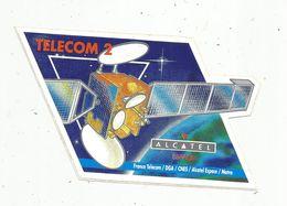 Autocollant , AVIATION & ESPACE , TELECOM 2 ,Alcatel Espace , CNES , Matra , France Telecom ,DGA - Aufkleber
