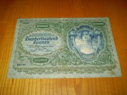 Austria, Autriche Billet De 100000 Kronen, 100000 Couronnes 1922 - Austria