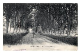 CPA    76   ESCLAVELLES---LES HAYONS---L'AVENUE DU CHATEAU---1913 - Altri Comuni