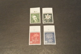 K13698- Set  MNH Helvetia- Switzerland- 194§- Pro Juventute - SC. B158-B161- Flowers - Other