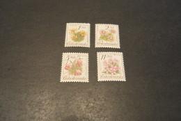 K13731- Set MNh Ceskoslovensko - Czechoslovakia - 1991- SC.2839-2842- YT-2898-2901- Flowers - Végétaux