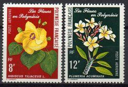 Polynésie Française - Poste Aérienne - 1977 - Yvert N° PA 126 & 127 **  - Les Fleurs De Polynésie - Poste Aérienne