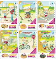 INDONESIA INDONESIEN  INDONESIE - IND P 345..350- P 373..378 Dunkin'Donuts Da 5 A 10 - 5.000ex..-. MINT RRR - Indonesia