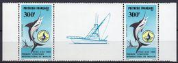Polynésie Française - Poste Aérienne - 1986 - Yvert N° PA 190A **  - Premier Concours International De Pêche Au Marlin - Poste Aérienne