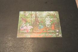 K13854-Bloc  MNH Brasil - 1991- SC. 2338- Hummingbirds And Orchids - Hummingbirds