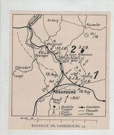 Bataille De Sarrebourg Saarburg 1914 Carte - 1914-18