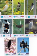 INDONESIA INDONESIEN  INDONESIE -IND P 376..383- P 379..386  Bank Buana-Various Birds.-. MINT RRR - Indonesia