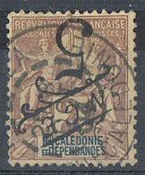 NOUVELLE-CALEDONIE N°54a Variété Surcharge Renversée - Gebraucht