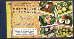 Polynésie Française - Carnet - 1999 - Yvert N° C590-1 **  - Fruits Du Fenua - Carnets