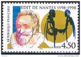 "Timbre France YT 3146 "" Edit De Nantes "" 1998 Neuf ** - Unused Stamps"