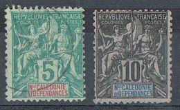 NOUVELLE-CALEDONIE N°44 Et 45 - Gebraucht