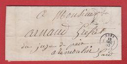 Lettre / De Uzes / Pour Remoulin  / 15 Décembre 1852 - Storia Postale