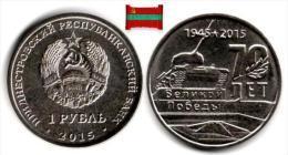 Transnistria - 1 Rouble 2015 (UNC - Tiraspol Memorial Of Glory - 50,000 Ex.) - Moldova