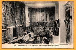Scènes Et Types - Intérieur D'une Manufacture De Tapis Arabes - Animée - Collection Idéale P.S. - Profesiones