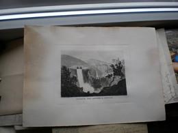 Engraving Cascata Del Aniene A Tivoli Archivio Carlo Erbe - Maps