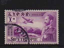 Ethiopia 1948, $10, Airplane, Minr 260, Vfu. Cv 15 Euro - Ethiopie