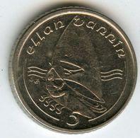 Ile De Man Isle 5 Pence 1991 AB KM 209.2 - Monnaies Régionales