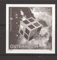 "AUSTRIA - EUROPA 2009  - TEMA  ""ASTRONOMIA"" - PRUEBA NEGRA De La SERIE De 1  V.  - SIN DENTAR  (IMPERFORATED) - Europa-CEPT"