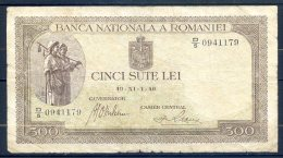 506-Roumanie Billet De 500 Lei 1940 D5 - Romania