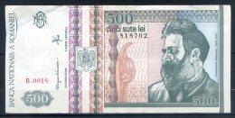506-Roumanie Billet De 500 Lei 1992 B0018 - Romania