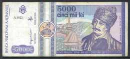 329-Roumanie Billet De 5000 Lei 1992 A0012 - Romania