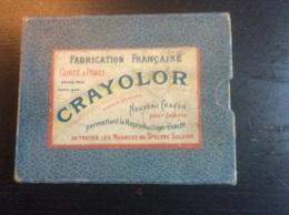 Boîte Crayolor (Conté) Avec 12 Crayons De Couleur (usagés) & Un Porte Crayon (début Du Siècle Dernier) - Loisirs Créatifs