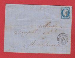 Lettre  / De Saintes Marie Aux Mines  / Pour Mulhouse   / 11 Juin 1858 - Storia Postale
