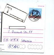 Carte Cachet Kudova Sur Eglise  Taxee Nachgebühr  Vue Kudova + Etiquette Retour - Machine Stamps (ATM)