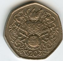 Ile De Man Isle 20 Pence 1982 AD KM 90 - Regionale Währungen