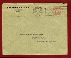 Brief Antwerpen - Lübeck Machinale Frankering 1.15 Fr E 140 - Other