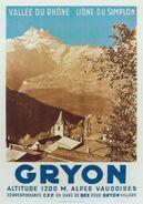 Gryon Vallée Du Rhone - Postcard - Poster Reproduction - Publicité