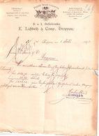 Document Du 06/07/1892 LICHTWITZ & Cie - TROPPAU  - Allemagne - 1800 – 1899