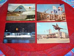 BRUXELLES - EXPOSITION  UNIVERSELLE 1958 - Lot De 8 Cartes De L'Exposition  (voir Description) - Expositions Universelles