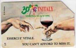 SCHEDA TELEFONICA USATA 481 VINITALY - Italy