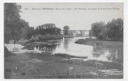 (RECTO / VERSO) ENVIRONS D' ORLEANS - N° 544 - BORDS DU LOIRET - LES MOULINS AVEC PERSONNAGE - BEAU CACHET - CPA - France