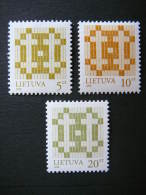Definitive Issues.Double Cross # Lietuva Litauen Lituanie Litouwen Lithuania 1998 MNH # Mi. 682/4 I - Lithuania
