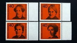 Deutschland BRD 791/4 Yt 640/3 **/mnh, Frauenrechtlerinen: Luise Otto-Peters, Helene Lange,Gertrud Bäumer,Rosa Luxemburg - BRD