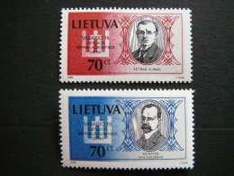 National Day. Persons # Lietuva Litauen Lituanie Litouwen Lithuania 1999 MNH # Mi. 687/8 Famous People - Lithuania